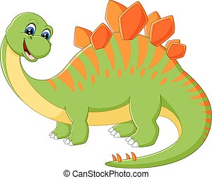 Cute dinosaur cartoon - illustration of Cute dinosaur...
