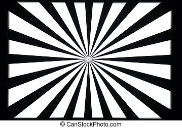 Black and white test pattern - Black and white camera and...