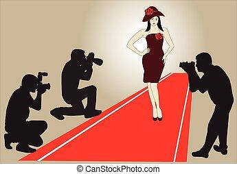 Model on Red Carpet
