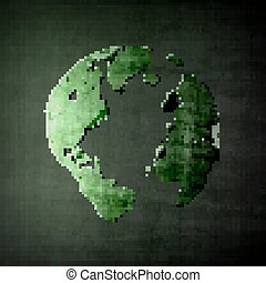 Abstract image of globe