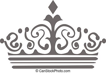 Tiara Crown - Vector Design of Crown Silhouette for Business...