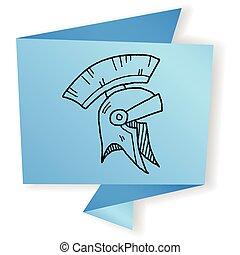 knight helmet doodle