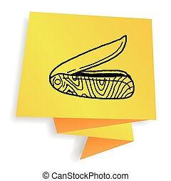 knife doodle