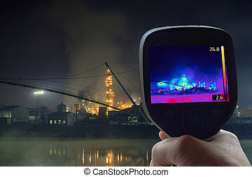 Oil Refinery Infrared - Thermal Imaging Supervision of Oil...