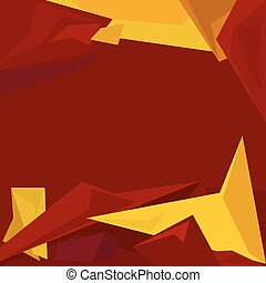 Polygonal Geometric Abstract Background, Bright Colorful...