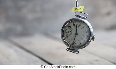 today idea - text and old pocket watch - today text and...
