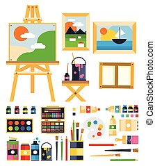 Painting Set. Vector Illustration