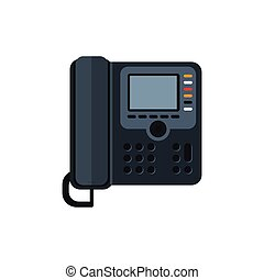 Telephone Vector Illustration - Telephone Top View Flat...
