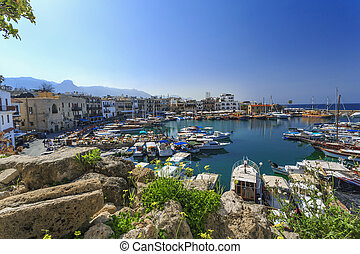 Marina in charming Kyrenia, Northern Cyprus - Marina in...