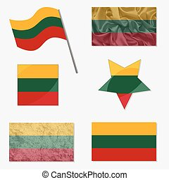 Set with Flags of Lithuania