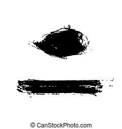 Grunge Brush Stroke set - Grunge Brush Stroke Black Brush...