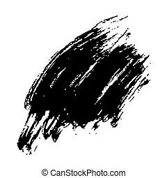 Grunge Brush Stroke Black Brush Stroke Modern Textured Brush...