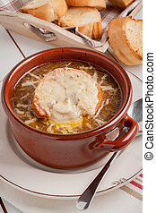 French Onion Soup - French onion soup with grilled gruyere...