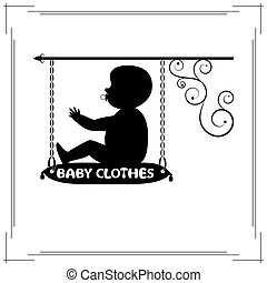 Baby clothes single signboard