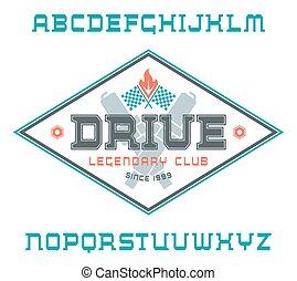 Square serif font
