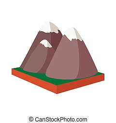 Rocky Mountains, Canada icon, cartoon style - Rocky...