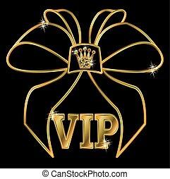 VIP golden invitation card, vector