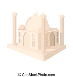 Taj Mahal, India icon, cartoon style - Taj Mahal, India icon...