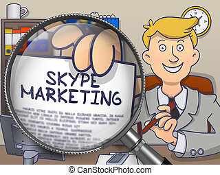 Skype Marketing through Magnifier Doodle Design - Skype...