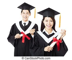 happy Graduation man and woman education students