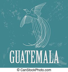 Guatemala landmarks Retro styled image Vector illustration