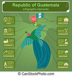 Guatemala infographics, statistical data, sights Vector...