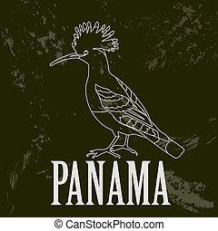 Panama landmarks. Retro styled image. Vector illustration