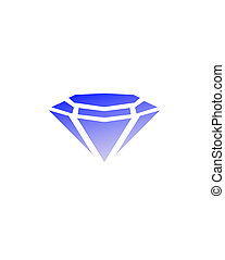 Diamond vector icons set - Rectangle and traingle in diamond...