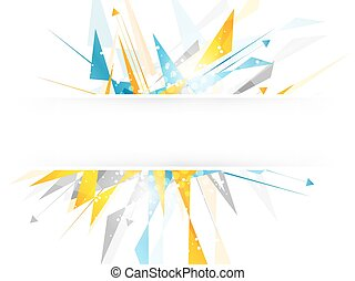 Abstract background with irregular polygonal pattern and...