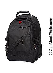 black rucksack - New big black rucksack isolated on white...