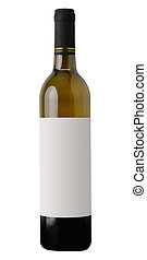 White Wine Bottle - Red wine bottle isolated on white...