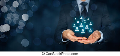 Customer care and management concept