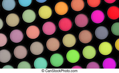 colorful eyeshadows such as fashion background