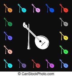 Balalaika icon sign Lots of colorful symbols for your design...