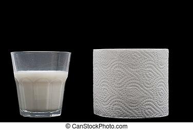 Lactose intolerance - Conceptual shot of lactose...