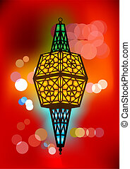 Intricate arabic lamp