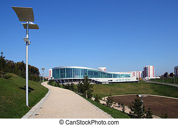 view on congress-hall in Ufa Russia