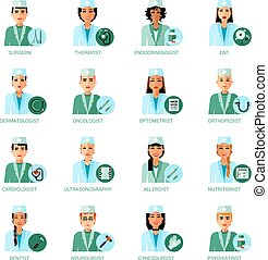 Medical Professions Avatars Set - Medical professions...