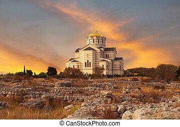 Vladimirsky Cathedral in Chersonese, Sevastopol, Crimea