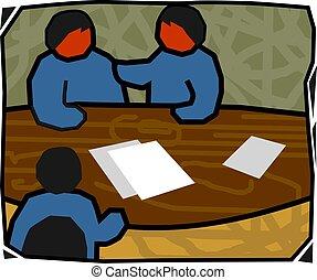 people in meeting  - Illustration of people in meeting