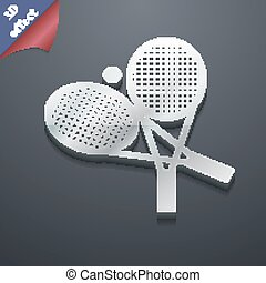 tennis icon symbol. 3D style. Trendy, modern design with space for your text Vector
