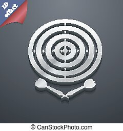 darts icon symbol 3D style Trendy, modern design with space...