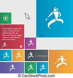 Karate kick icon sign buttons Modern interface website...