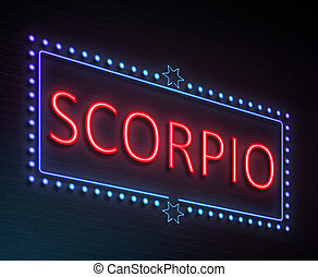 Scorpio sign concept - Illustration depicting an illuminated...