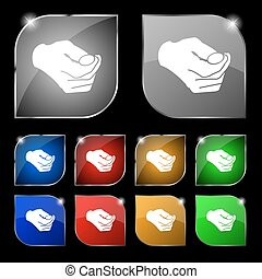 decision making by chance with coin, heads or tails icon...
