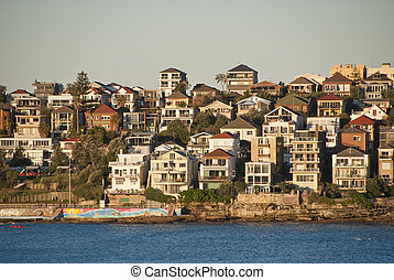 Bondi Beach in Sydney - Bondi Beach View in Sydney,...
