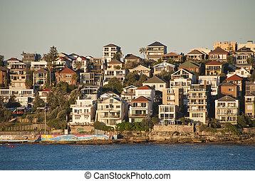 Bondi Beach in Sydney - Bondi Beach View in Sydney,...