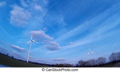 Windturbine / Wind Power with a blue sky