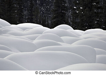 Mountain Snow Moguls Winter Alberta Canada cold