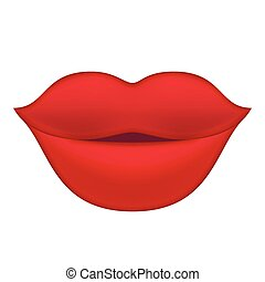 Red Lips illustration. - Red Lips. Vector Isolated...